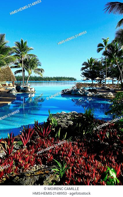 France, New Caledonia, Isle of Pines, Oro Bay, Le Meridien, Compulsory mention : Le Meridien Noumea (Hotel Restaurant)