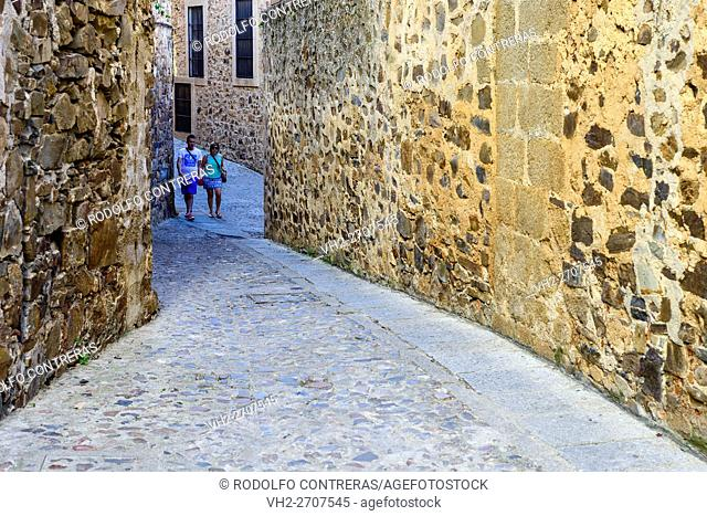 Medieval streets in Cáceres