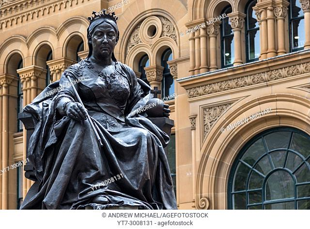 Queen Victoria statue and building, Sydney, New South Wales, Australia