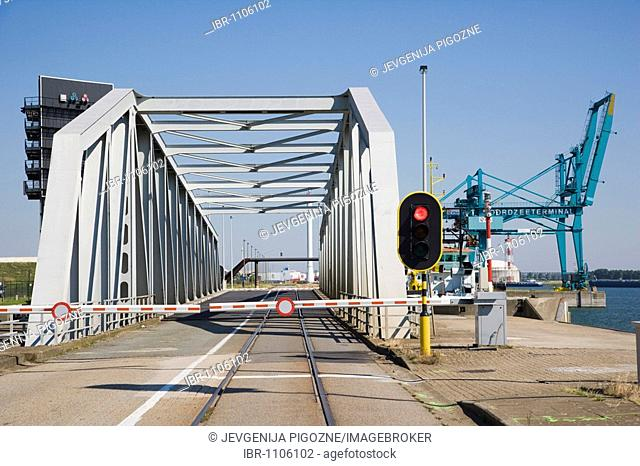 One of many bridges at Antwerp port, Belgium