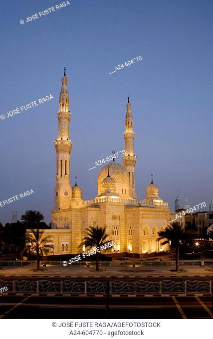 United Arab Emirates. Dubai City. Jumeirah District. Jumeirah Mosque
