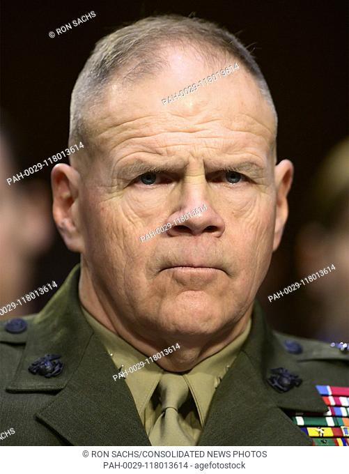 United States Marine Corps General Robert B. Neller, Commandant of the Marine Corps testifies before the US Senate Committee on Armed Services during a hearing...