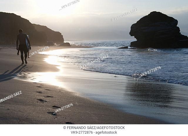 beach in noth coast of Galicia