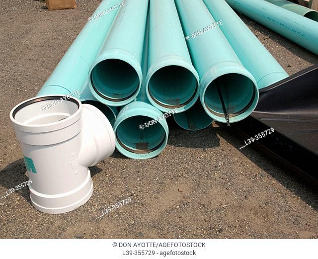 Water main pipes in Massachusetts. USA