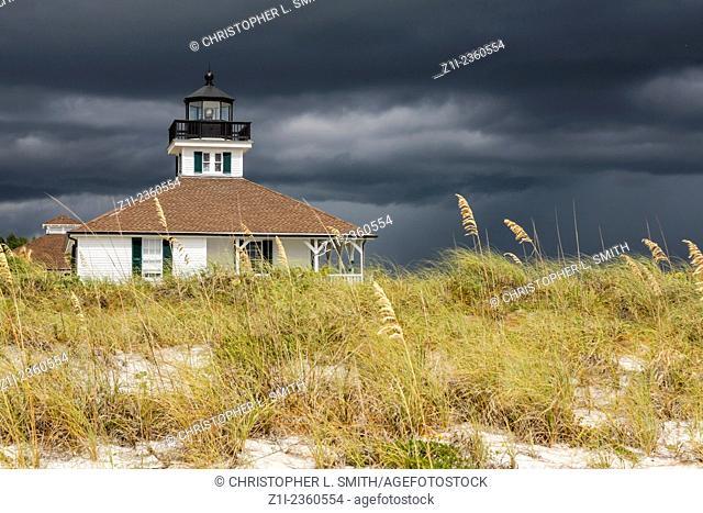 The Boca Grande Lighthouse at the end of Gasparilla Island FL