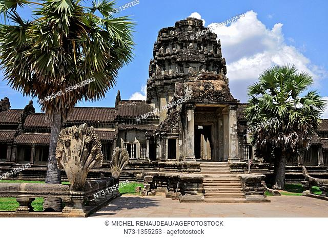 Cambodia, Siem Reap, the temples of Angkor, classified UNESCO World Heritage, Angkor Wat