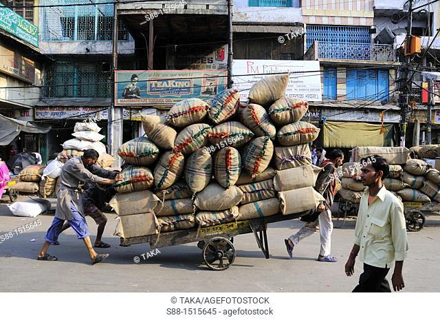 Busy street near Chandni Chowk