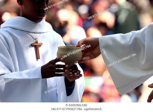 Catholic mass. Eucharist