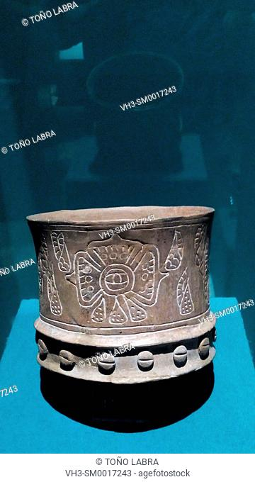 Vessel. Teotihuacan Museum. Mexico
