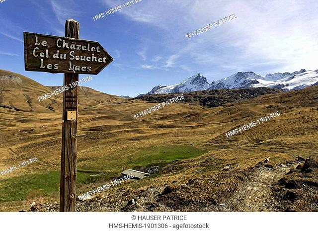 France, Hautes Alpes, Emparis plateau on the edge of the Ecrins National Park