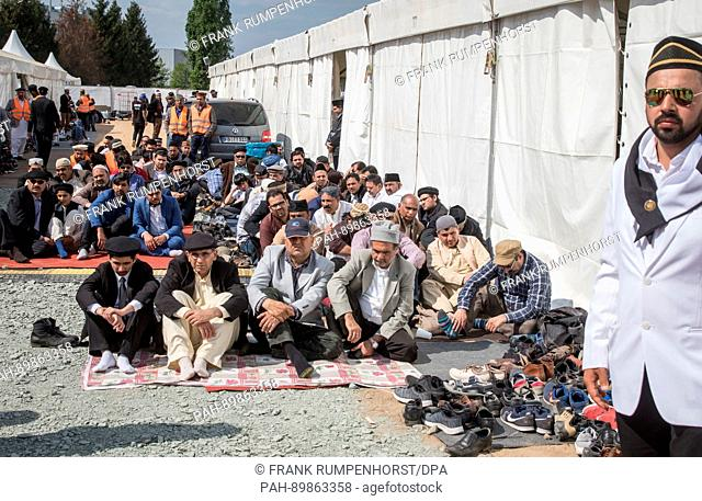 There is no more room in the tent where people have gathered for a Friday prayer and to hear Caliph Mirza Masroor Ahmad, the spiritual leader of the Ahmadiyya...