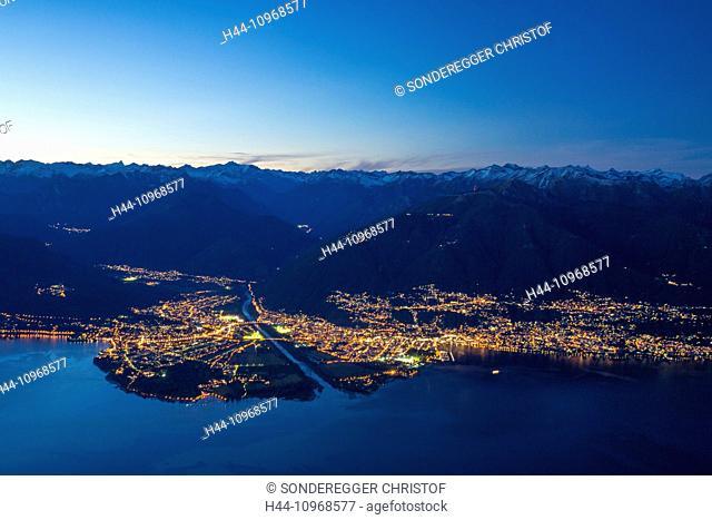 Lago Maggiore, Maggia delta, Ascona, Locarno, mountain, mountains, autumn, canton, Ticino, Southern Switzerland, village, river, flow, body of water, water
