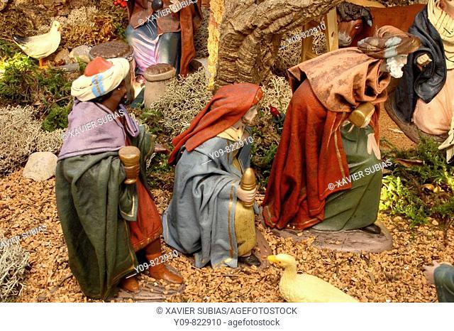 The Three Wise Men, Nativity scene
