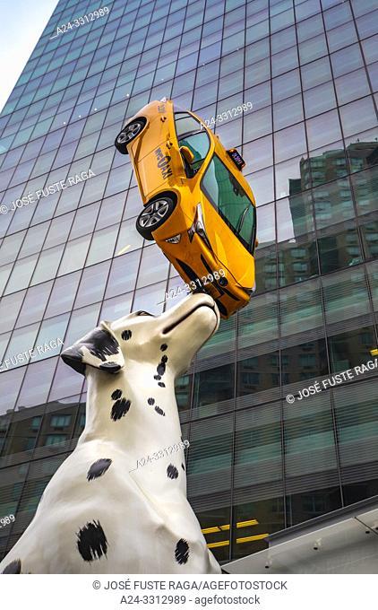 USA, New York City, Manhattan, 42th. Street, New York Taxi quarters