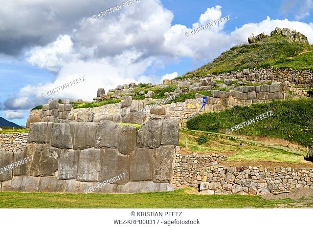 South America, Peru, Cusco, Inca citadel, ruin of Saksaywaman
