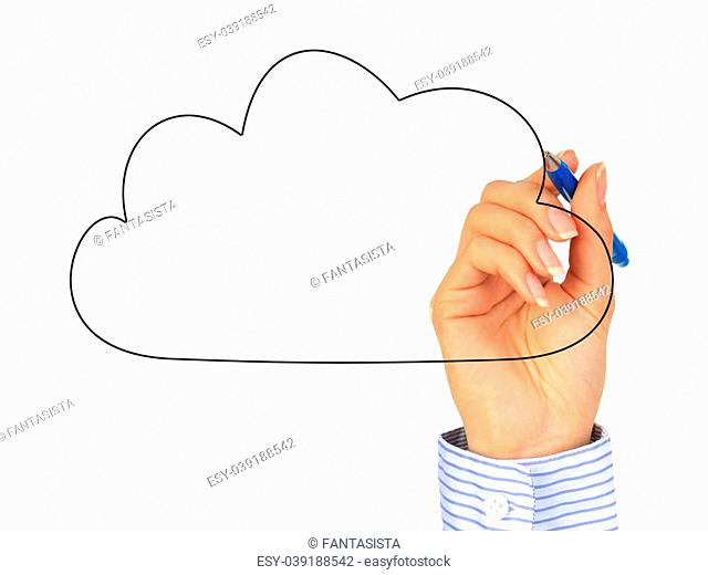 Cloud computing concept. Photo collage