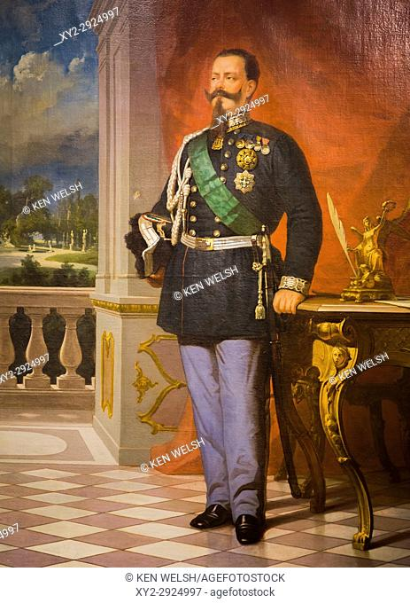 Rome, Italy. Victor Emmanuel II, 1820-1878, King of Sardinia, King of Italy. After the original painting in the Vittoriano by Italian artist Felice Barucco