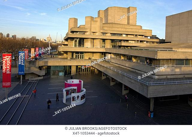 The National Theatre London in late afternoon sunshine
