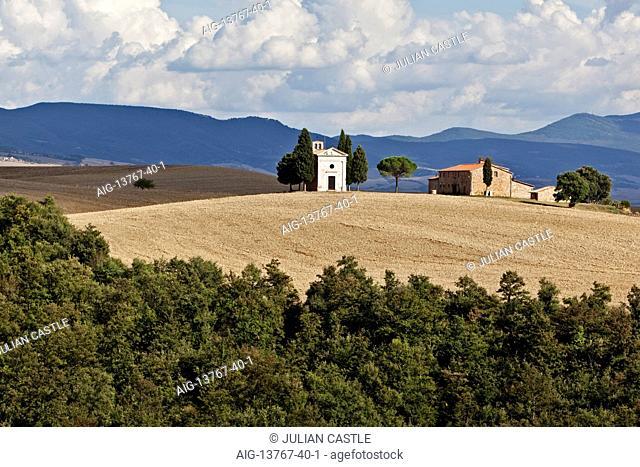 The Vitaleta Chapel Val d'orcia Tuscany Italy