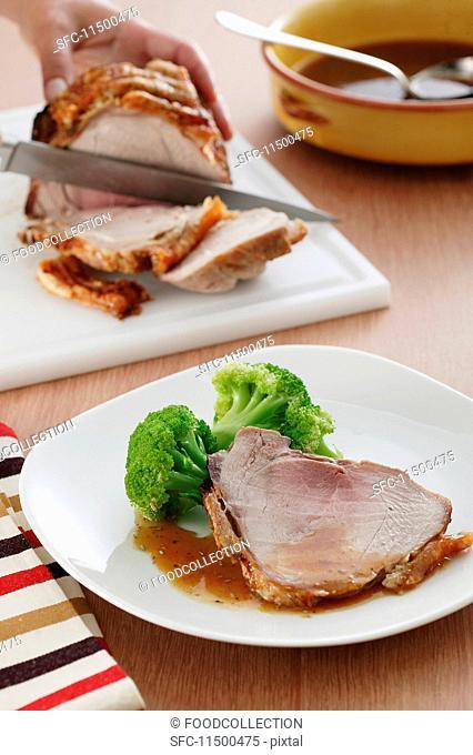 Sliced crispy roast beef