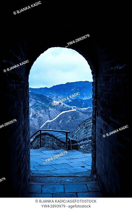 Watch tower observation point, Great Wall of China at Badaling, Beijing, China