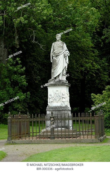 Monument of Wilhelm Malte I von Putbus, Ruegen, Rugia, Mecklenburg-Western Pomerania, Germany