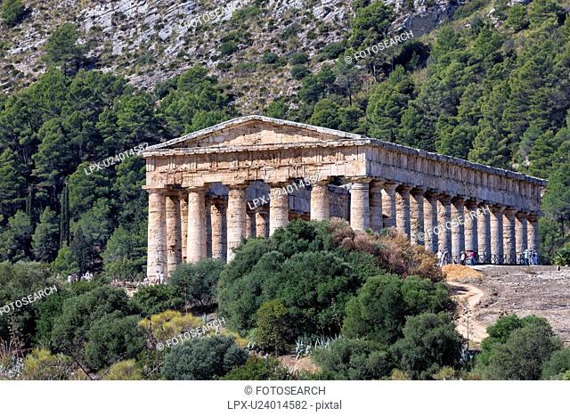 Greek Temple at Segesta, Sicily, Italy