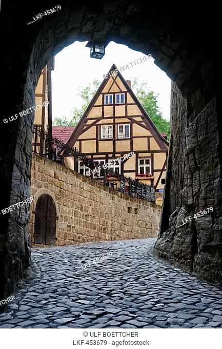 Restaurant Schlosskrug on Quedlinburg, Quedlinburg, Saxony-Anhalt, Germany