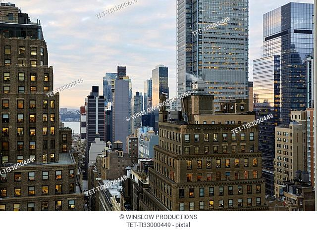 USA, New York, New York City, Skyscrapers and office buildings