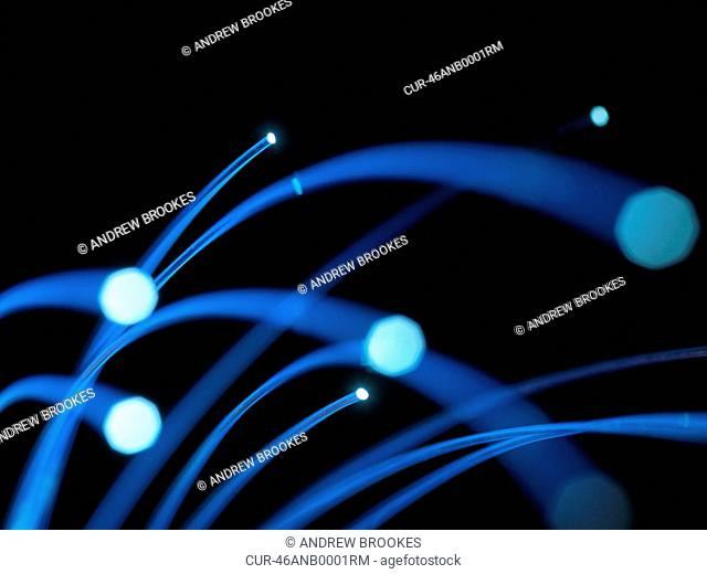 Optical Fibres, Optical fibres may be used to carry images, or high volumes of data. communications, internet, super highway, email, advancement, innovation