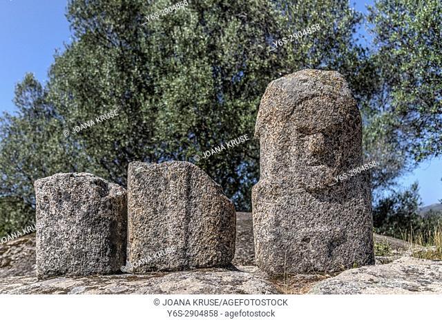 Filitosa, menhirs, Corsica, France