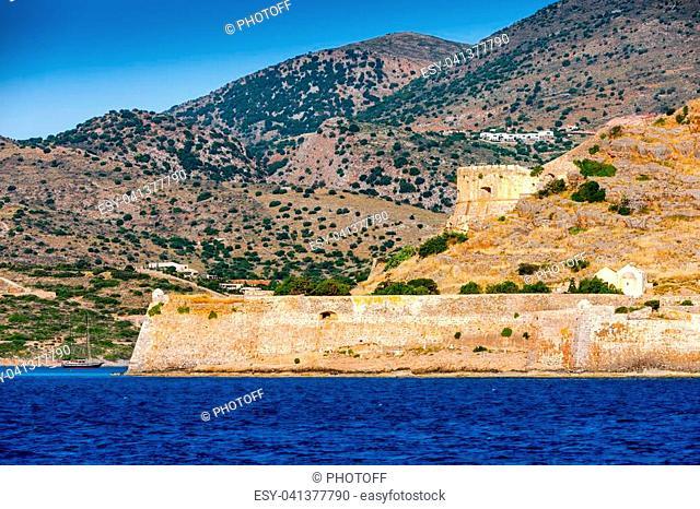 The island fortress of Spinalonga, Crete, Greece