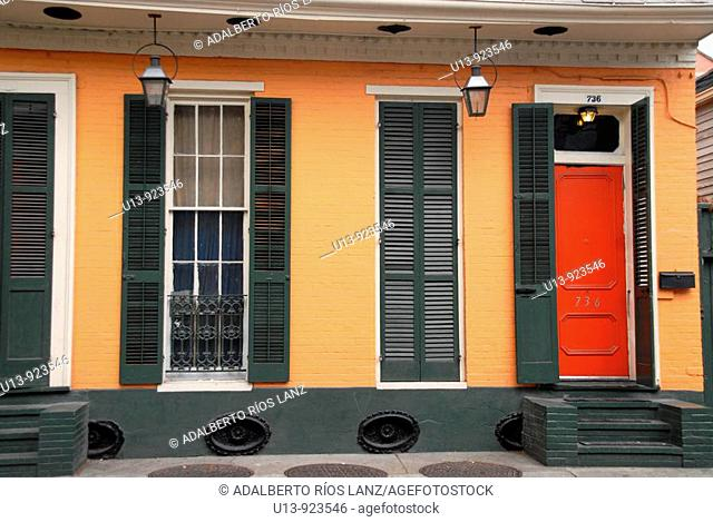 Typical wooden house at the Marigny Faubourg neighborhood, New Orleans, Louisiana, USA
