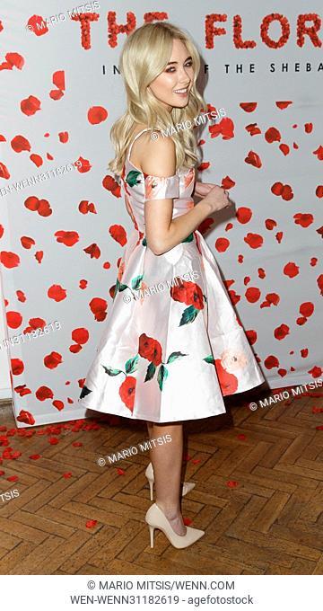 The Sheba Floral Ball held at the One Marylebone - Arrivals Featuring: Nicola Hughes Where: London, United Kingdom When: 14 Mar 2017 Credit: Mario Mitsis/WENN