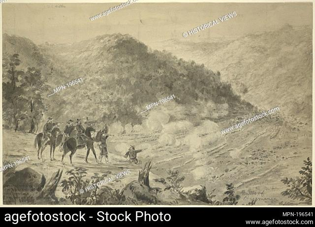 Battle of Chickamauga, Sept. 20, 1863. Hillen, J. T. E. (Artist). Sketches for Frank Leslie's Illustrated Newspaper : 138 original drawings of the Civil War by...