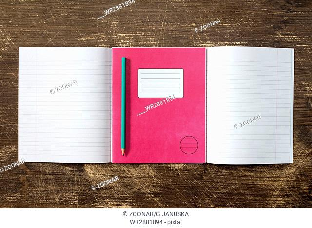 Exercise book book school Stock Photos and Images | age
