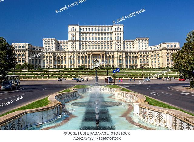 Romania, Bucharest City, Parliament Bldg