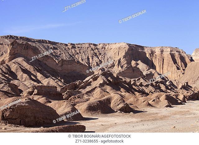 Chile, Antofagasta Region, Atacama Desert, Valle de Marte; Valle de la Muerte,