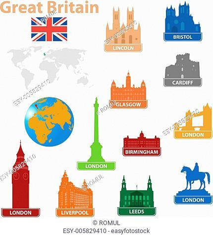 Symbols city to Great Britain