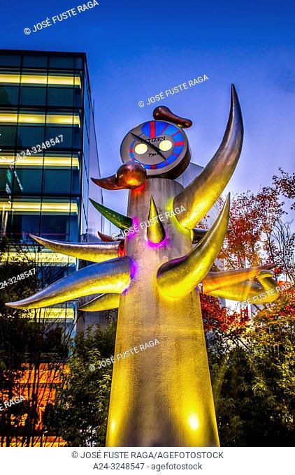 Japan, Tokyo City, Ginza District, Harumi Dori Avenue, Okamoto Taro Sculpture