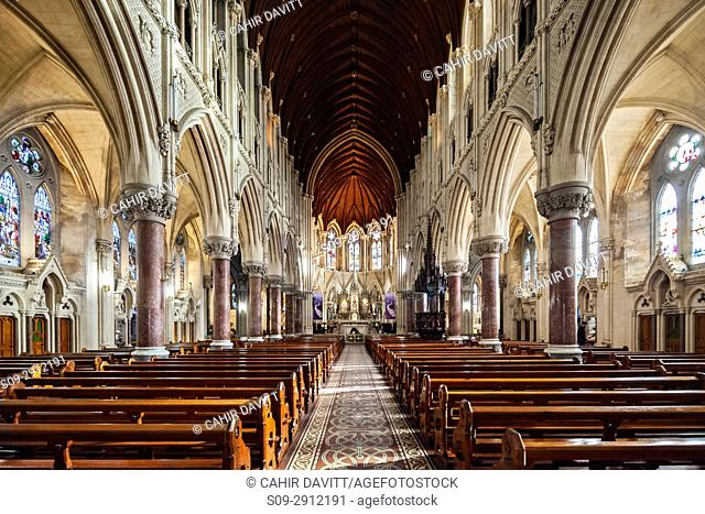 The nave and altar of St Colman's Cathedral, Cobh, Co. Cork, Munster,Ireland