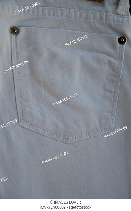 Jeans pocket, rear view, close-up