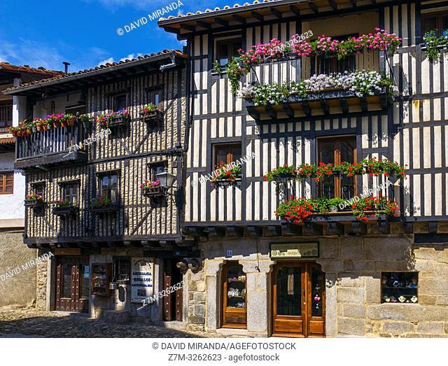 Arquitectura tradicional en La Alberca. Sierra de Francia. Salamanca. Castilla León. España