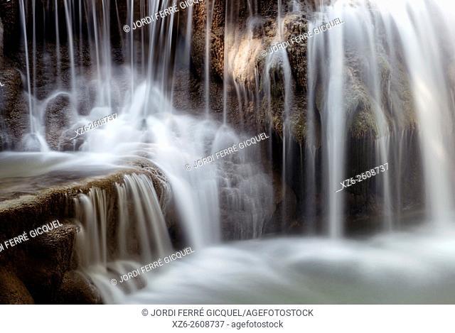 Huay Mae Khamin Waterfall, Srisawat district, Kanchanaburi, Thailand, Asia