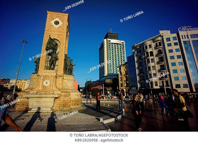 Republic Monument. Taksim square. Istanbul. Turkye