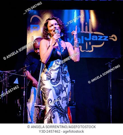 Roberta Gambarini Singing With The Roy Hargrove Big Band, Pozzuoli Jazz Festival, Naples, Italy