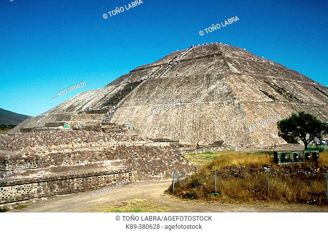 Teotihuacan. Pyramid of the Sun. Mexico