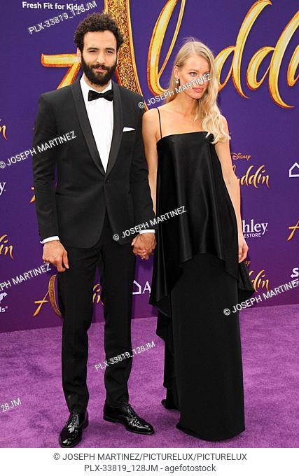 "Marwan Kenzari, Nora Ponse at The World Premiere of Disney's """"Aladdin"""" held at El Capitan Theatre, Hollywood, CA, May 21, 2019"