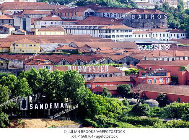 port wine storage warehouses in Porto, Portugal