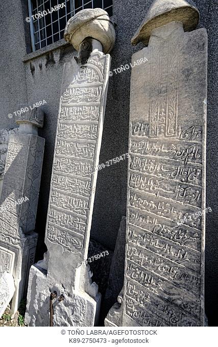 Muslim Cemetery (Ottoman Period) at Agora of Esmirna. Asia Minor. Turkey
